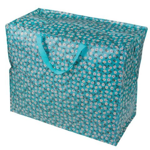 Huge Turquoise Blue Storage Bag With Handles